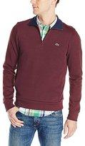Lacoste Men's Half Zip Lightweight Interlock Sweatshirt