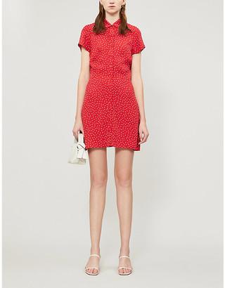 Reformation Sunday polka dot-print crepe mini dress