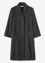 Toast Wool Tweed Long Coat