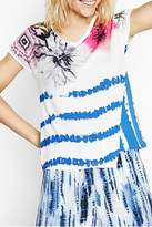 Desigual Abstract Striped Tee