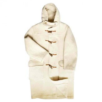 Gloverall Ecru Wool Coat for Women