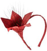 Eugenia Kim Asa Floral Eel-Skin Headband, Red