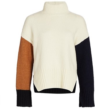 Frame Colorblocked Turtleneck Sweater