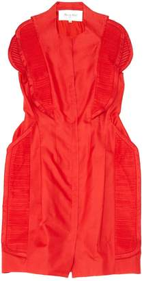 Rue Du Mail Red Silk Dresses
