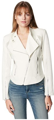 Blank NYC Mesh Insert Fitted Jacket (So Icy) Women's Clothing