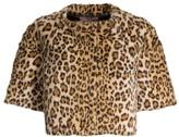 Glamour Puss Glamourpuss Leopard Faux-Fur Crop Jacket