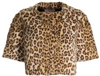 Glamour Puss Leopard Faux-Fur Crop Jacket