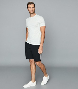 Reiss Adam - Tailored Shorts With Side Stripe in Navy