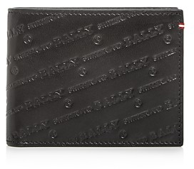 Bally Embossed Leather Bi-Fold Wallet