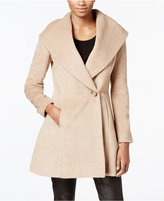 Trina Turk Wool-Blend Skirted Wrap Coat