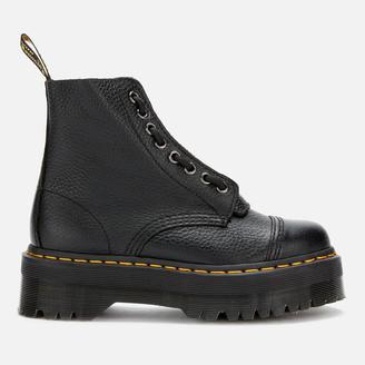 Dr. Martens Women's Sinclair Leather Zip Front Boots - Black