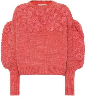 Ulla Johnson Ciel floral wool sweater
