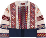 Vanessa Bruno Echem embroidered cotton-canvas and crocheted jacket