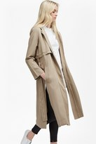 French Connection Hamilton Tencel Hooded Maxi Coat