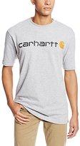 Carhartt Men's Signature Logo Short-Sleeve Midweight Jersey T-Shirt K195
