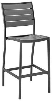 "Florida Seating 30"" Patio Bar Stool Frame Color: Dark Black"
