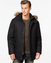 Buffalo David Bitton Men's Big & Tall Faux-Fur Dobby Tech Hooded Parka Jacket