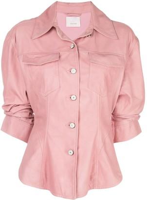 Cinq à Sept scrunched Canyon jacket
