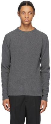 Rick Owens Grey Biker Sweater
