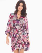 Soma Intimates Classics Silk Short Kimono Robe Fall Garden