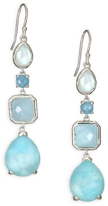 Ippolita Rock Candy Milky Aquamarine, Larimar, Aquamarine, Blue Topaz Sterling Silver Drop Earrings