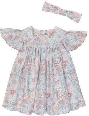 Tartine et Chocolat Baby printed cotton dress and hairband set