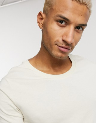 ASOS DESIGN t-shirt with scoop neck in beige
