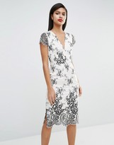 French Connection Rosalie Lace Midi Dress