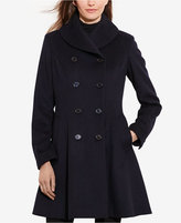 Lauren Ralph Lauren Double-Breasted Fit & Flare Wool Military Coat