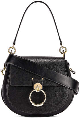 Chloé Large Tess Grained Leather Bag in Black | FWRD