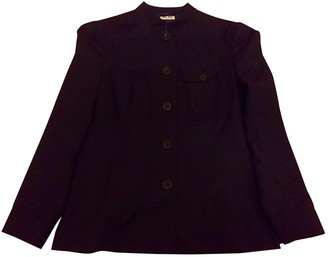Miu Miu Blue Wool Jacket for Women