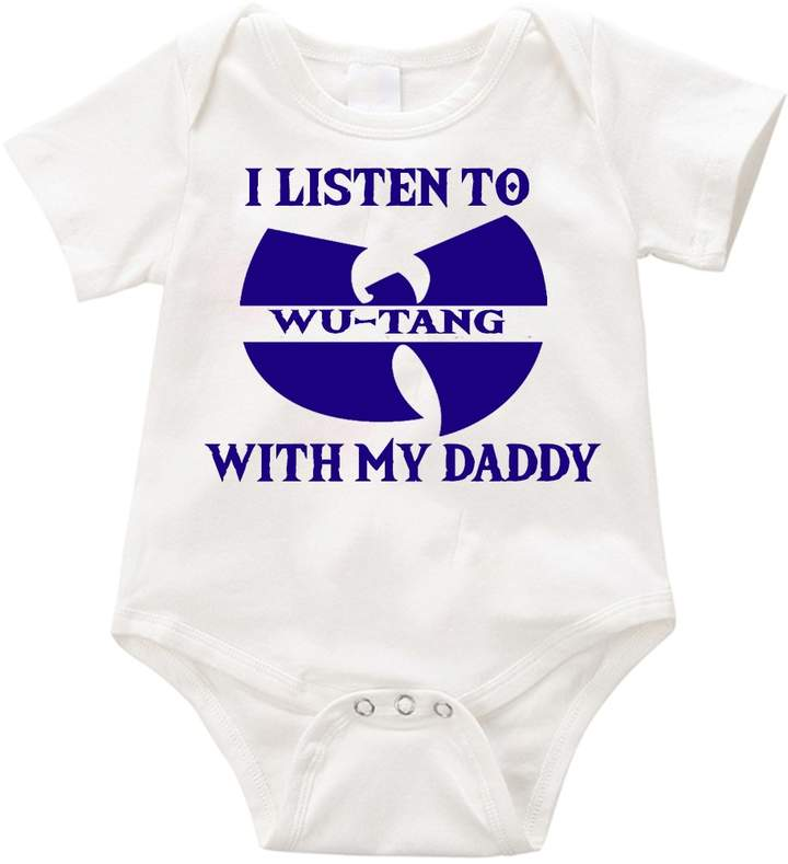 Anicelook I listen to WUTANG with my daddy infant romper onesie creeper (3-6months, )