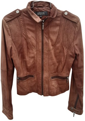 Kenneth Cole Brown Leather Jacket for Women