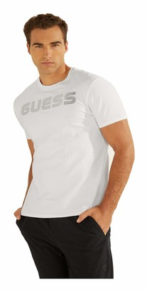 GUESS Men's Short Sleeve Space Logo Graphic Tee