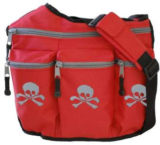 Diaper Dude Skulls Diaper bag (Red)