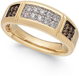 Macy's Men's Diamond Squared Cluster Ring (1/2 ct. t.w.) in 10k Gold