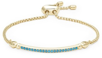 Kendra Scott Ott Gold Adjustable Chain Bracelet in Turquoise