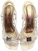 Louis Vuitton Python print Leather Sandals