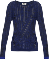 Acne Studios Marcy Mouline ribbed-knit cotton sweater