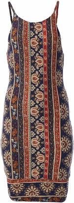 Angie Junior's High Neck Body Con Printed Dress