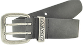 Dickies Black & Antique Nickel Metal Loop Double Prong Belt