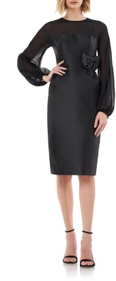 Kay Unger Long Sleeve Body-Con Sheath