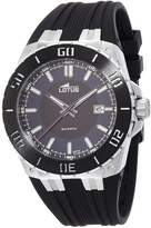 Lotus R Men's Quartz Watch with Blue Dial Analogue Display and Black Rubber Strap 15805/2