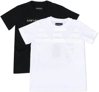 Emporio Armani Kids two-set logo T-shirt