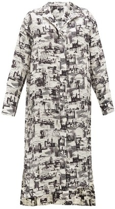 Joseph Gaya Montage-print Satin-faille Shirtdress - Black White