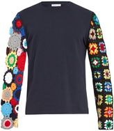J.W.Anderson Long crochet-sleeve cotton T-shirt