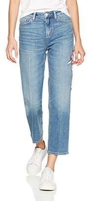 Tommy Hilfiger Women's Slim Straight Hw Cropped Bootcut Jeans,W28