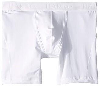 Hanro Cotton Essentials Longleg Boxer Brief (Black) Men's Underwear