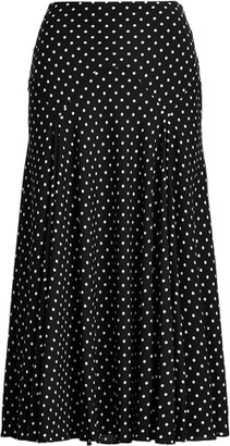 Ralph Lauren Polka-Dot Georgette Peasant Skirt