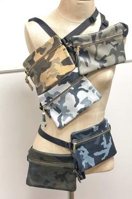 Zina Kao Camo Leather Hip Bags